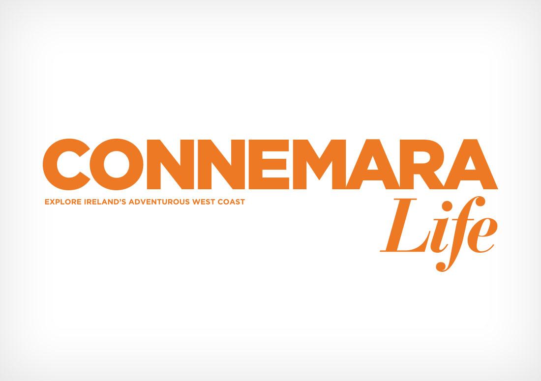 Connemara Life Logo branding design typography
