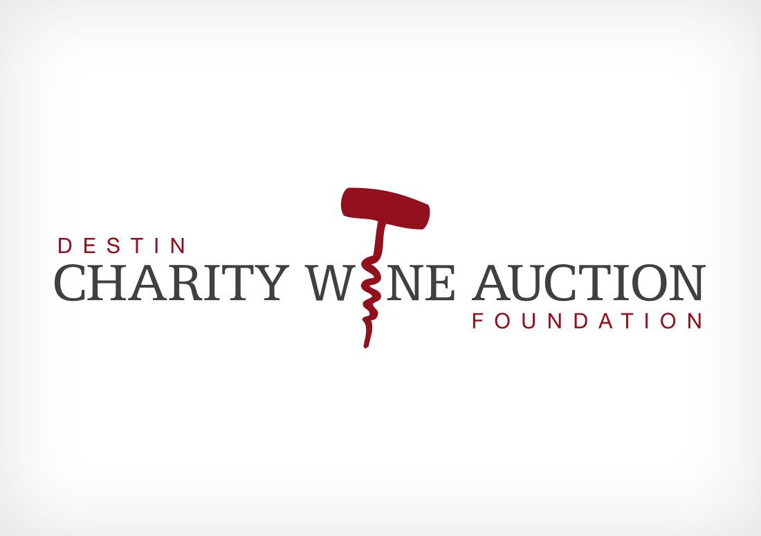Destin Charity Wine Auction Foundation Logo branding design
