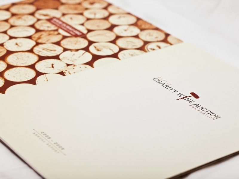 Destin Charity Wine Auction Foundation Booklet branding design print