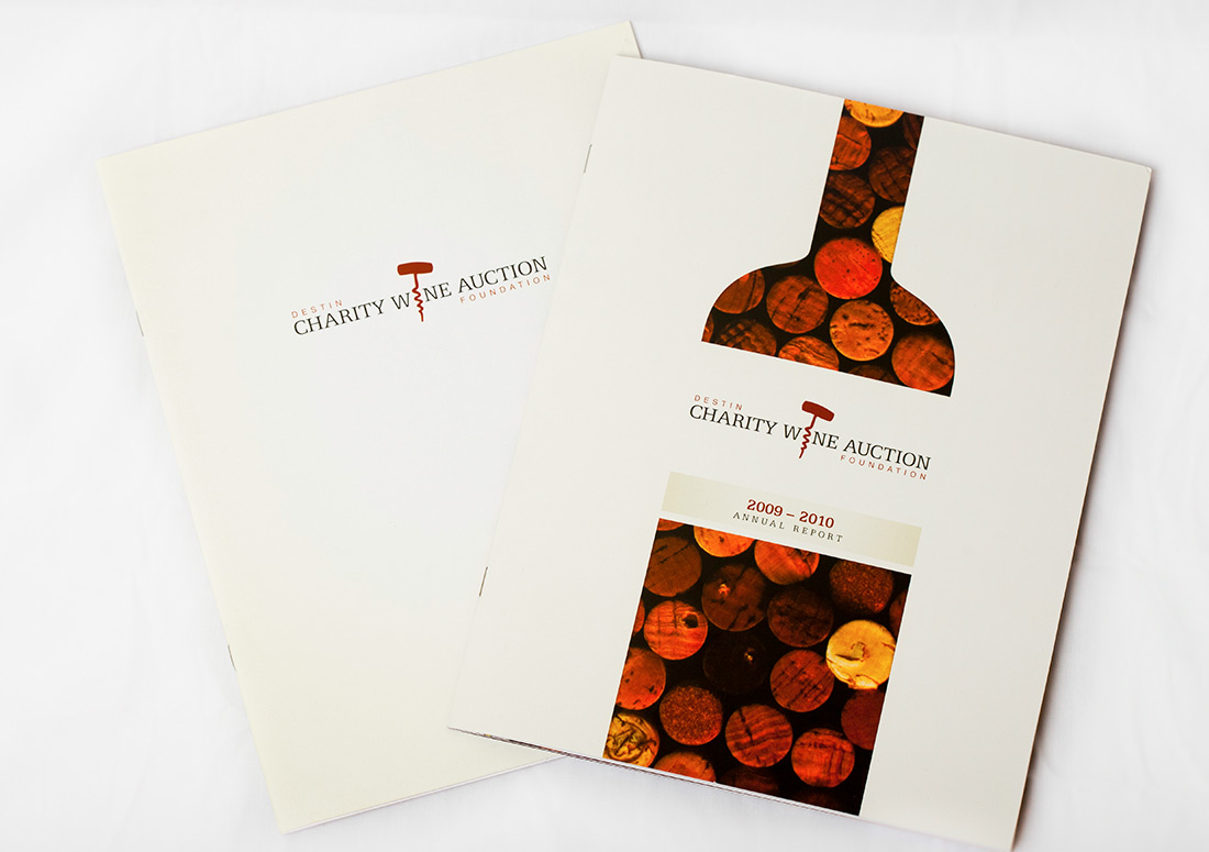 Destin Charity Wine Auction Foundation Collateral print design branding