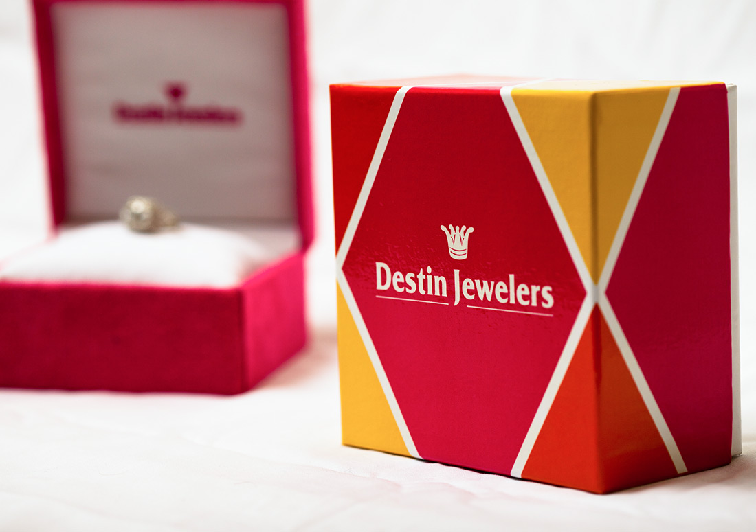 Destin Jewelers Jewelry Box branding packaging design