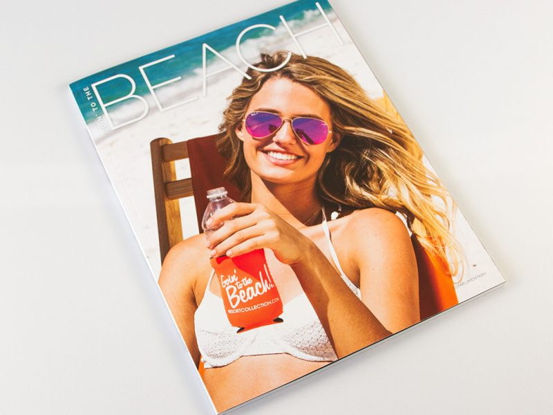 Resort Collection Goin' to the Beach Magazine Cover branding design publishing publication