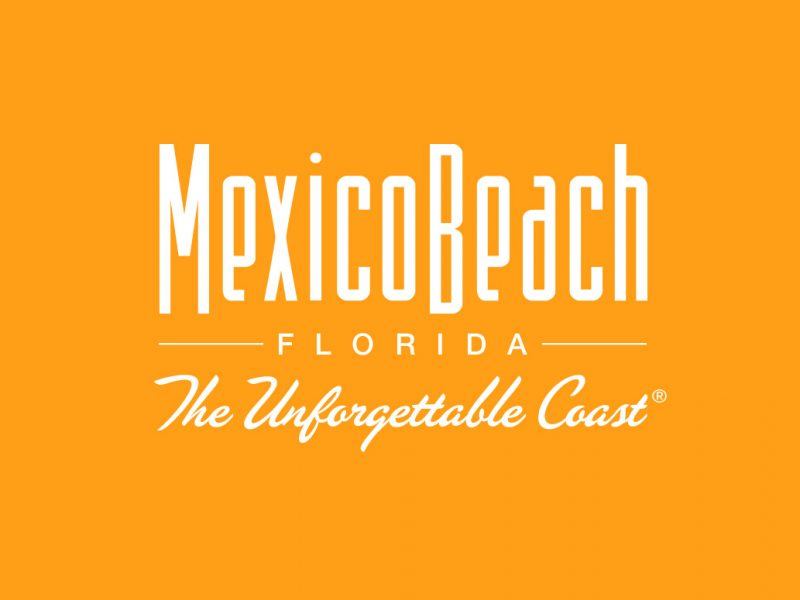 Mexico Beach Logo branding design orange
