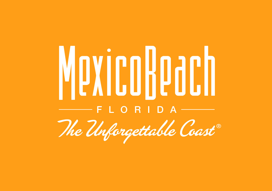 Mexico Beach Logo branding design orange