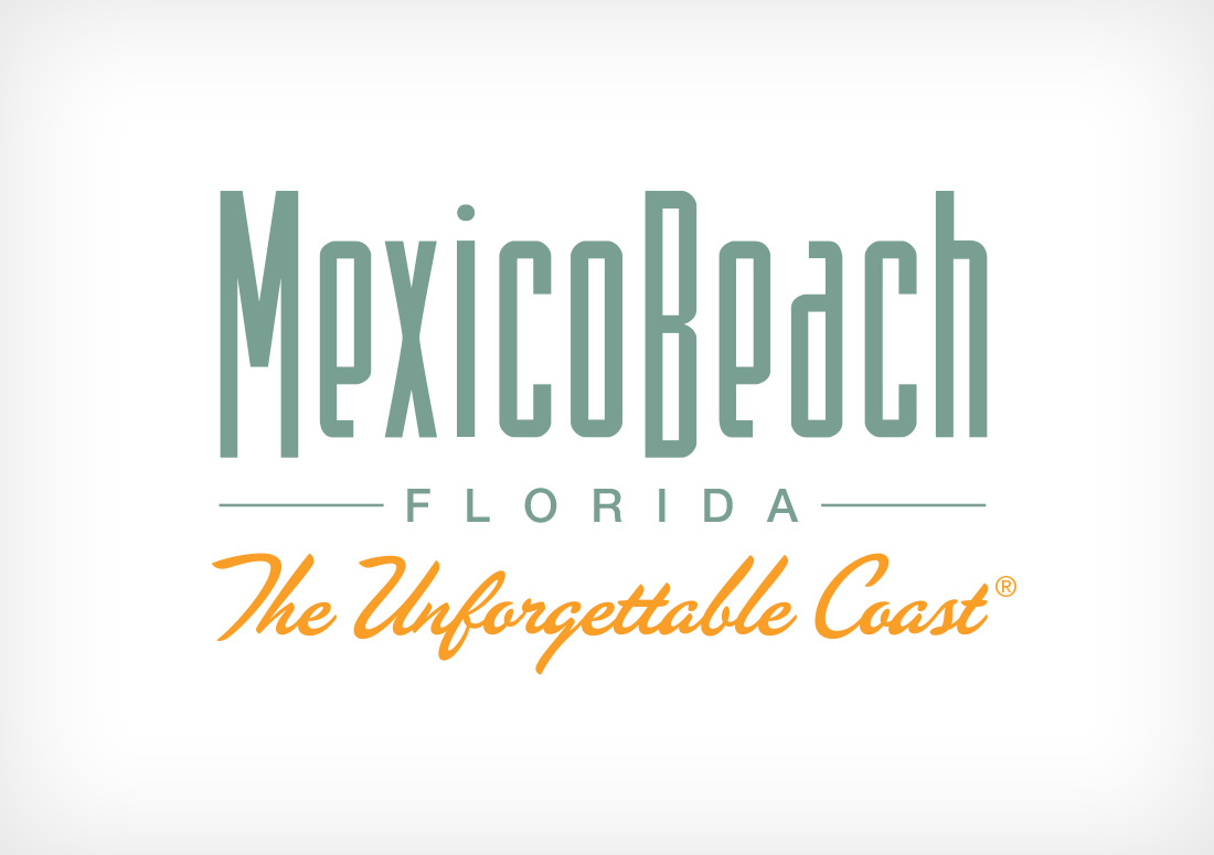 Mexico Beach Logo branding design