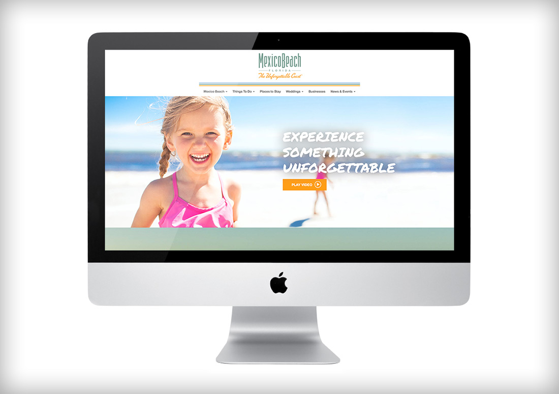 Mexico Beach Website branding web design