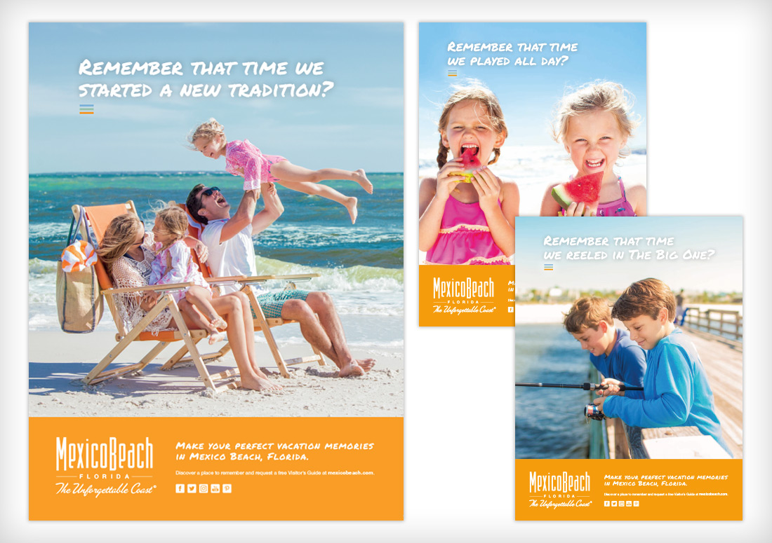 Mexico Beach Remember When Campaign Print Ads branding advertising