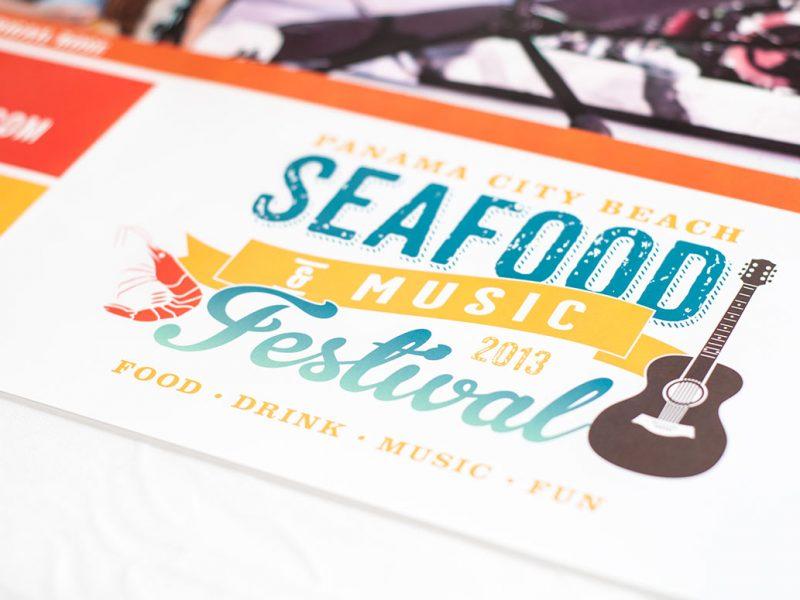 Panama City Beach 2013 Seafood Festival Poster print advertising design