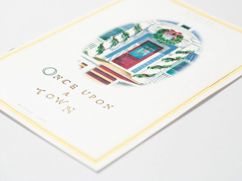 Seaside Florida Brochure illustrations branding watercolor publishing