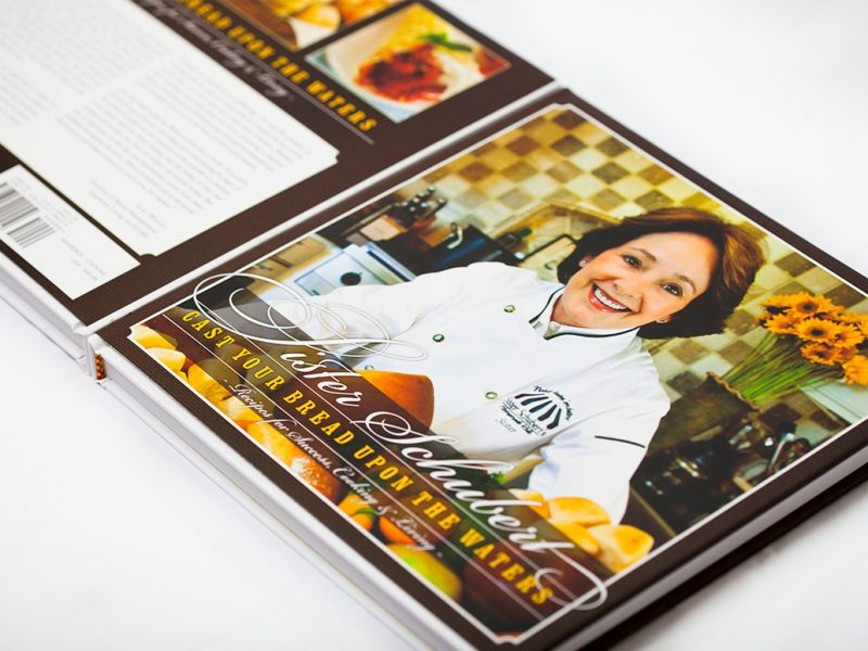 Sister Schubert Cookbook Cast Your Bread Upon the Waters publishing branding design cook book
