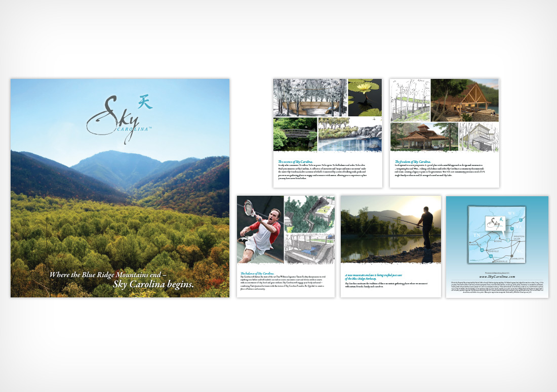 Sky Carolina Brochure design branding