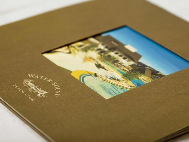 St Joe Water Sound Brochure branding design print