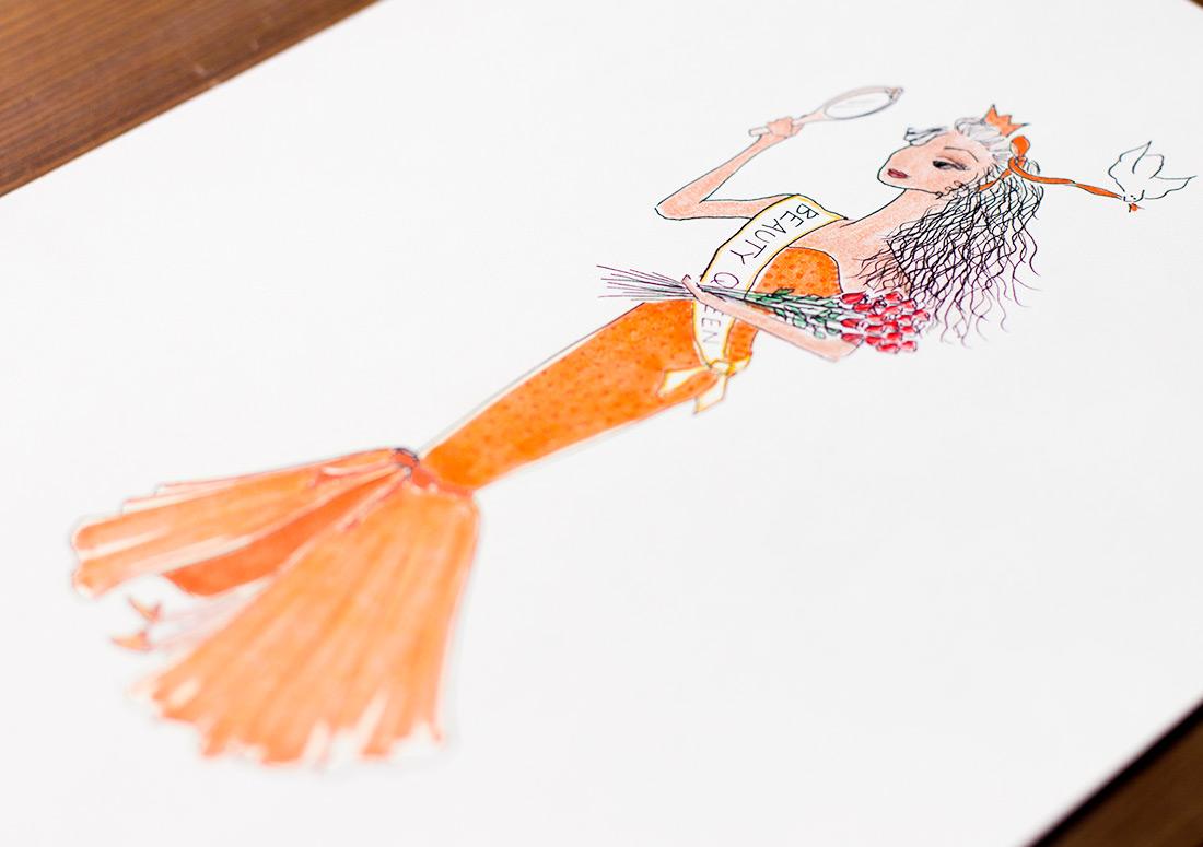 Tiara Teas Illustrations branding design drawing