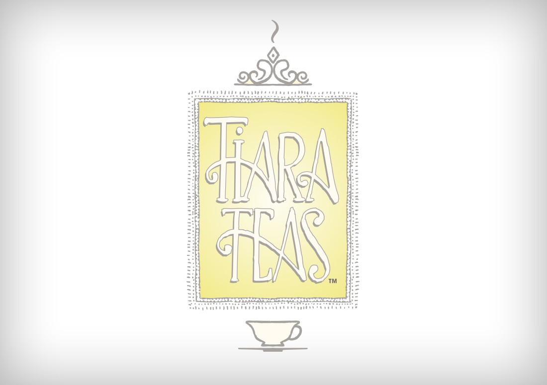 Tiara Teas Illustrated Logo branding design