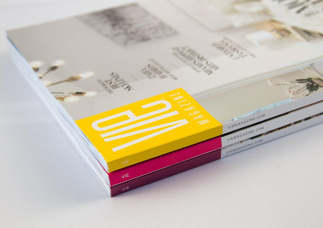VIE Magazine Stacked Issues publication publishing design branding