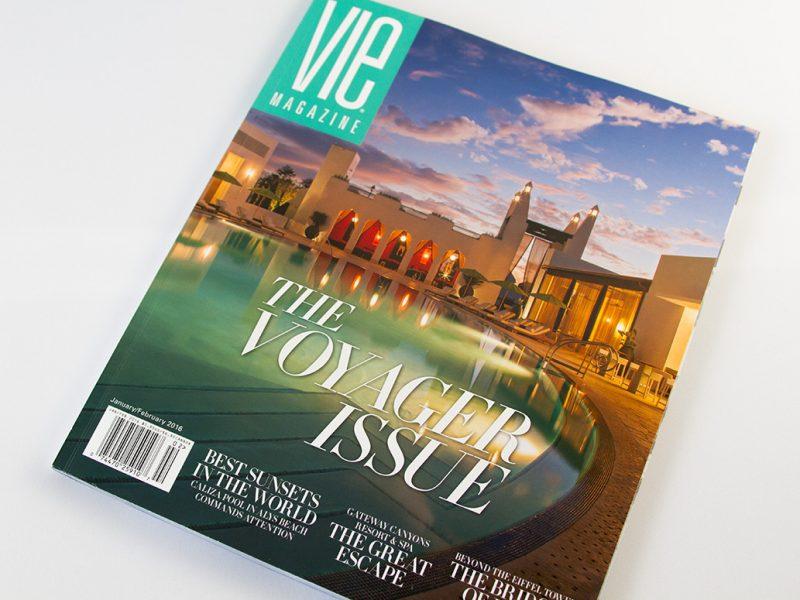 VIE Magazine Voyager Issue Cover publication publishing design branding