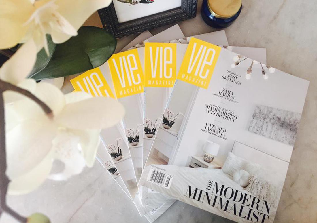 VIE Magazine Modern Minimalist Issue branding design publishing publication