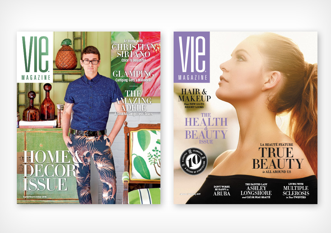 VIE Magazine Covers September/October 2016 with Christian Siriano and January/February 2017