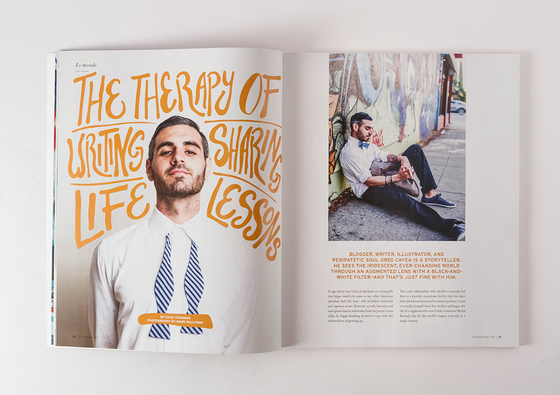VIE Magazine Article Greg Cayea