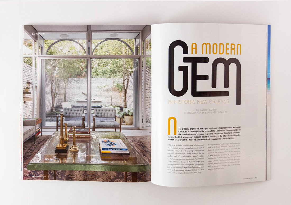 VIE Magazine Article Nathaniel Curtis New Orleans Architecture