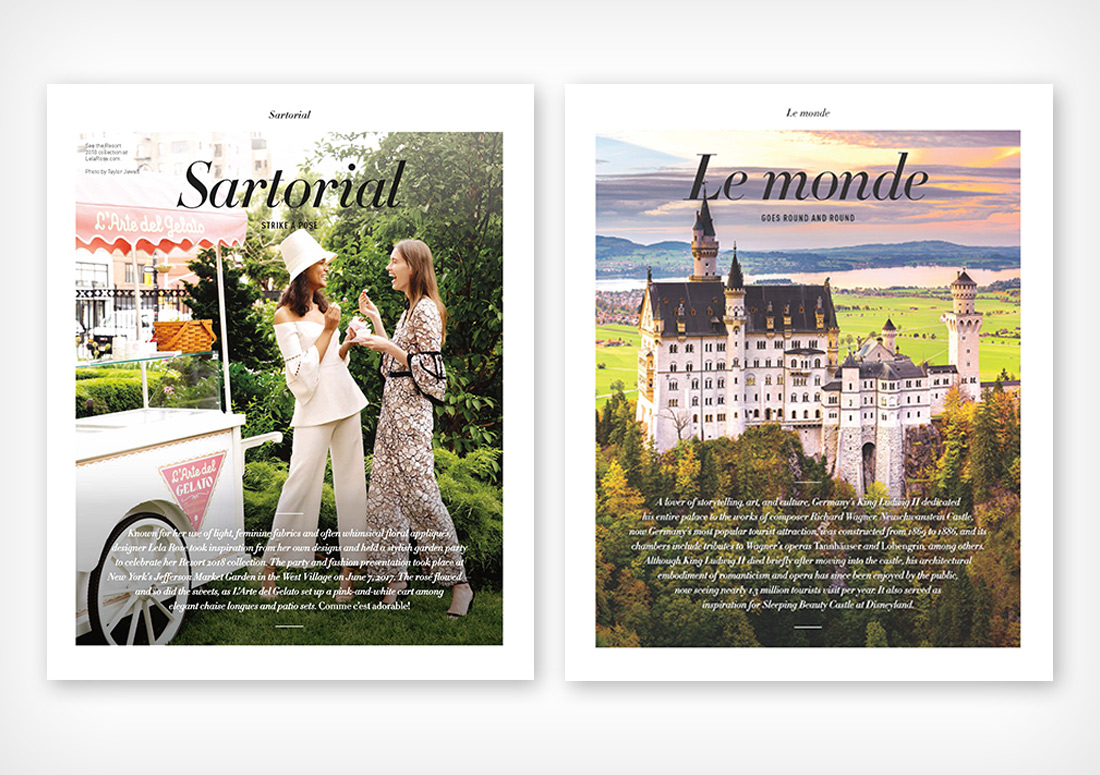 VIE Magazine Department pages Sartorial and Le monde