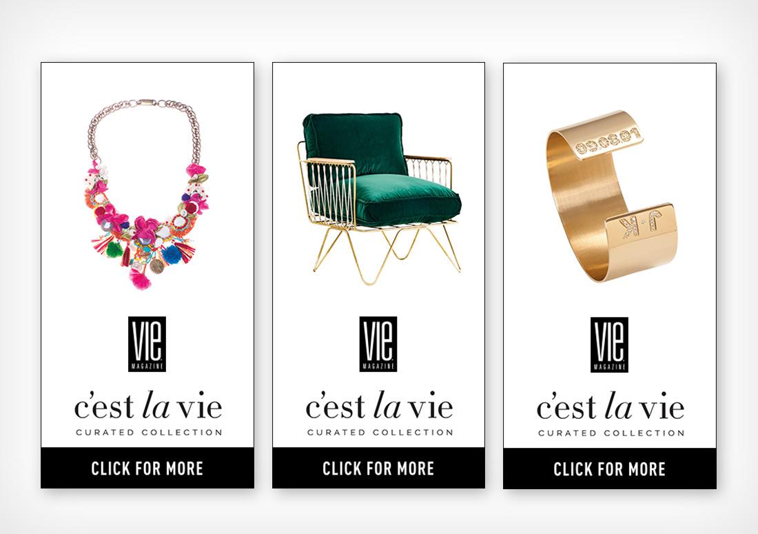 VIE Magazine C'est la VIE web banner ads