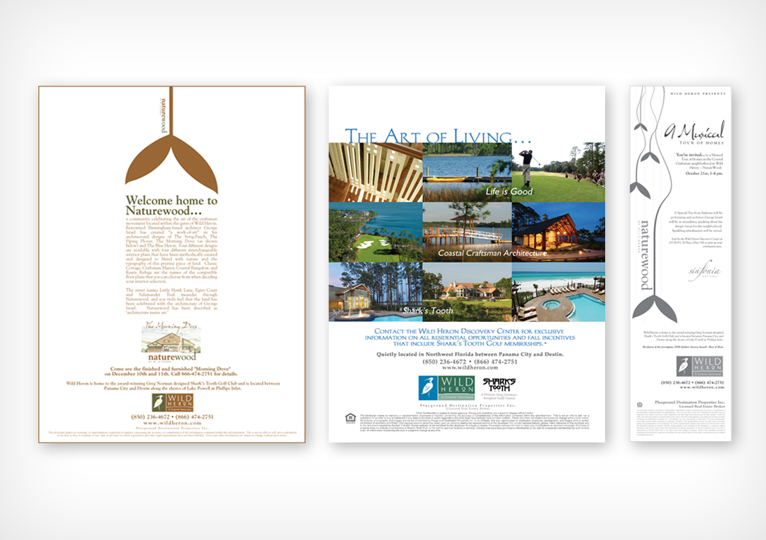 Wild Heron Print Advertising