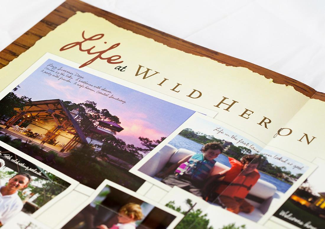 Wild Heron Traditions Brochure design branding