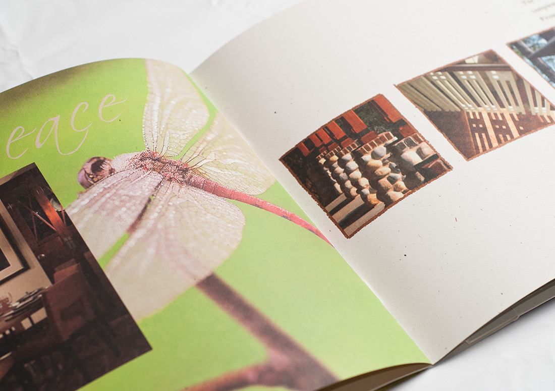Wild Heron Lakeside Lodge Brochure branding design