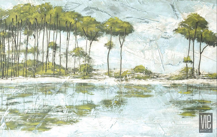 Western Lake, Florida Painting by Allison Wickey