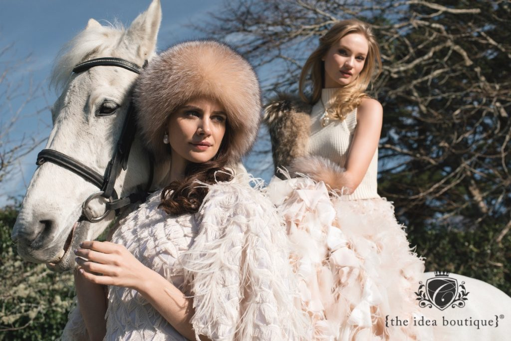 Editorial Feature at Ballynahinch Castle Hotel, Featuring Christian  Siriano's Designs Photoshoot