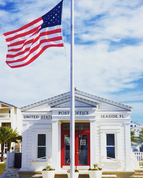 Seaside Post Office in Florida