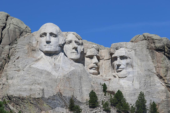 Mount Rushmore President's Faces
