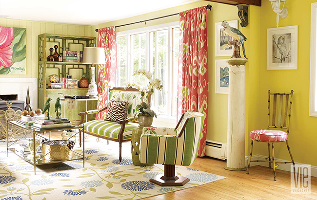 Christian Siriano's Living room featured in VIE Magazine