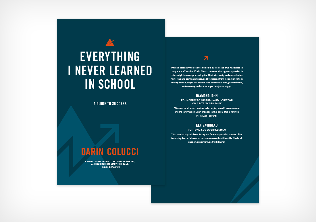 Darin Colucci book redesign, Everything I Never Learned in School: A Guide to Success