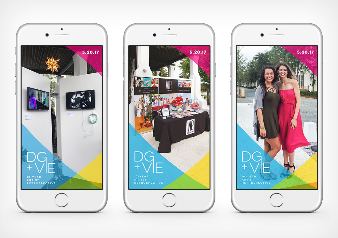 VIE Magazine pre-party and digital art gallery for Digital Graffiti 2017 snapchat geofilters, hosted in Alys Beach, Florida