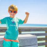 Little boy wearing the Panama City Beach Party Animal shirt