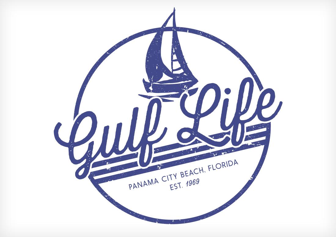 gulf life design for panama city beach tshirt