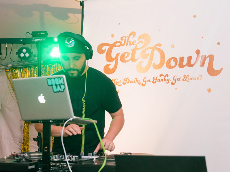 The Get Down DJ banner, hosted by VIE Magazine for South Walton Fashion Week 2016