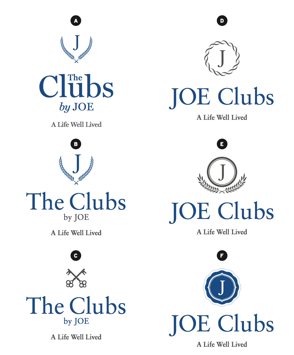 Design Process for St JOE's new logo