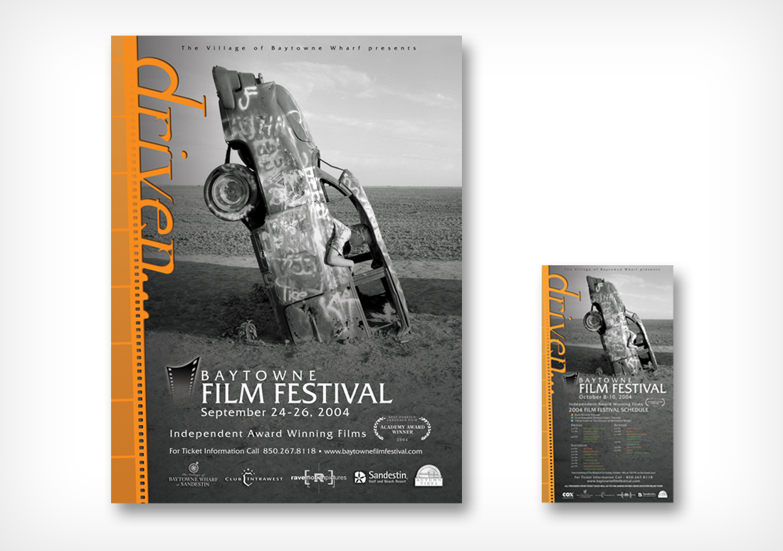 The Village of Baytowne Wharf Film Festival poster and collateral