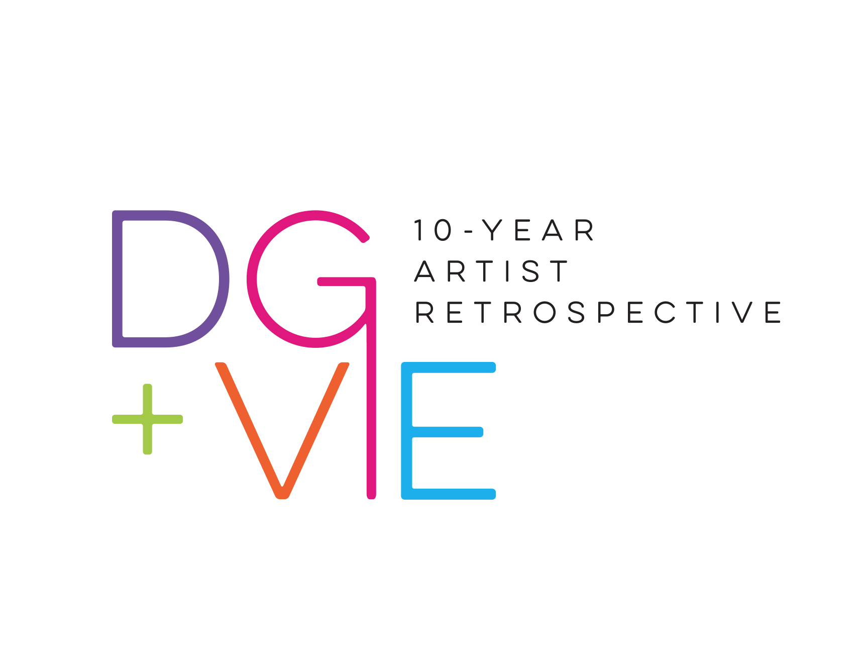 DG + VIE Digital Graffiti Festival and VIE Magazine's Artist Retrospective Logo