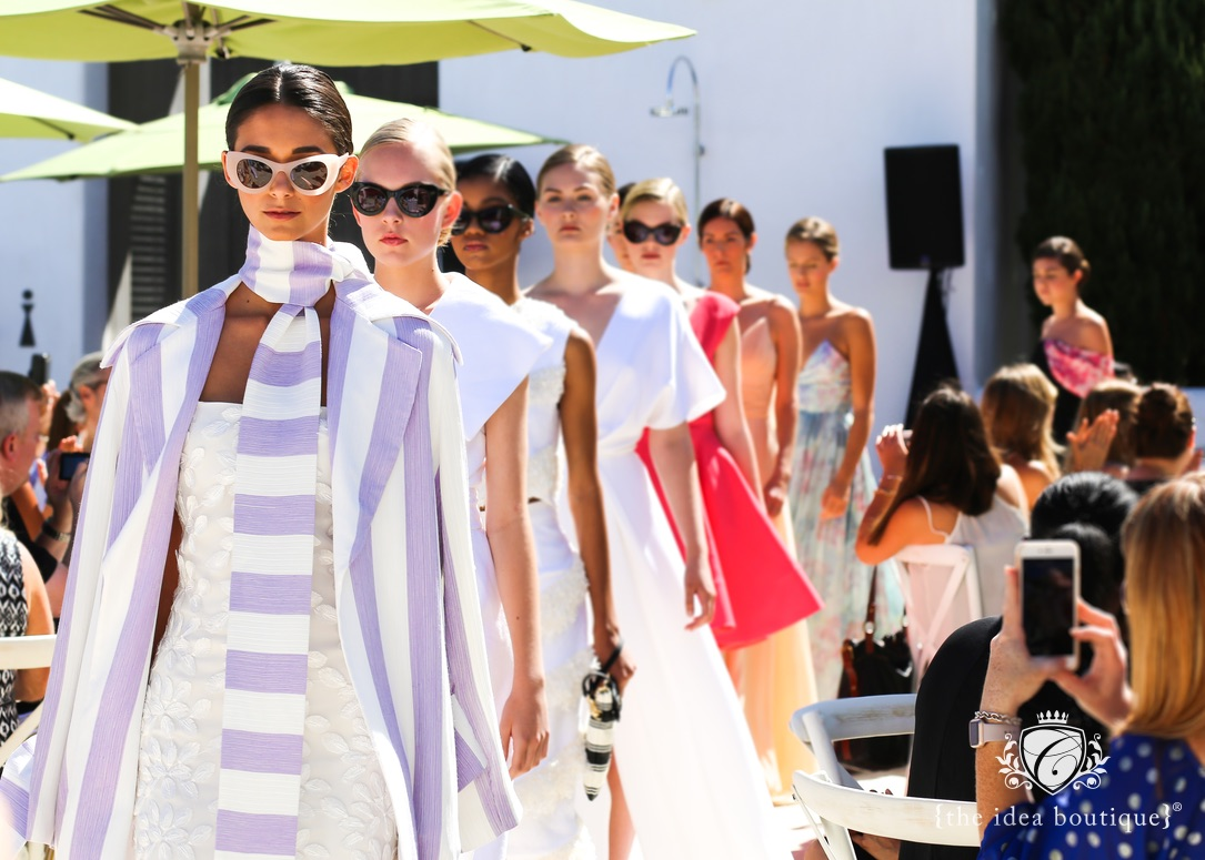 models walking in Christian Siriano at the trunk show in Alys Beach