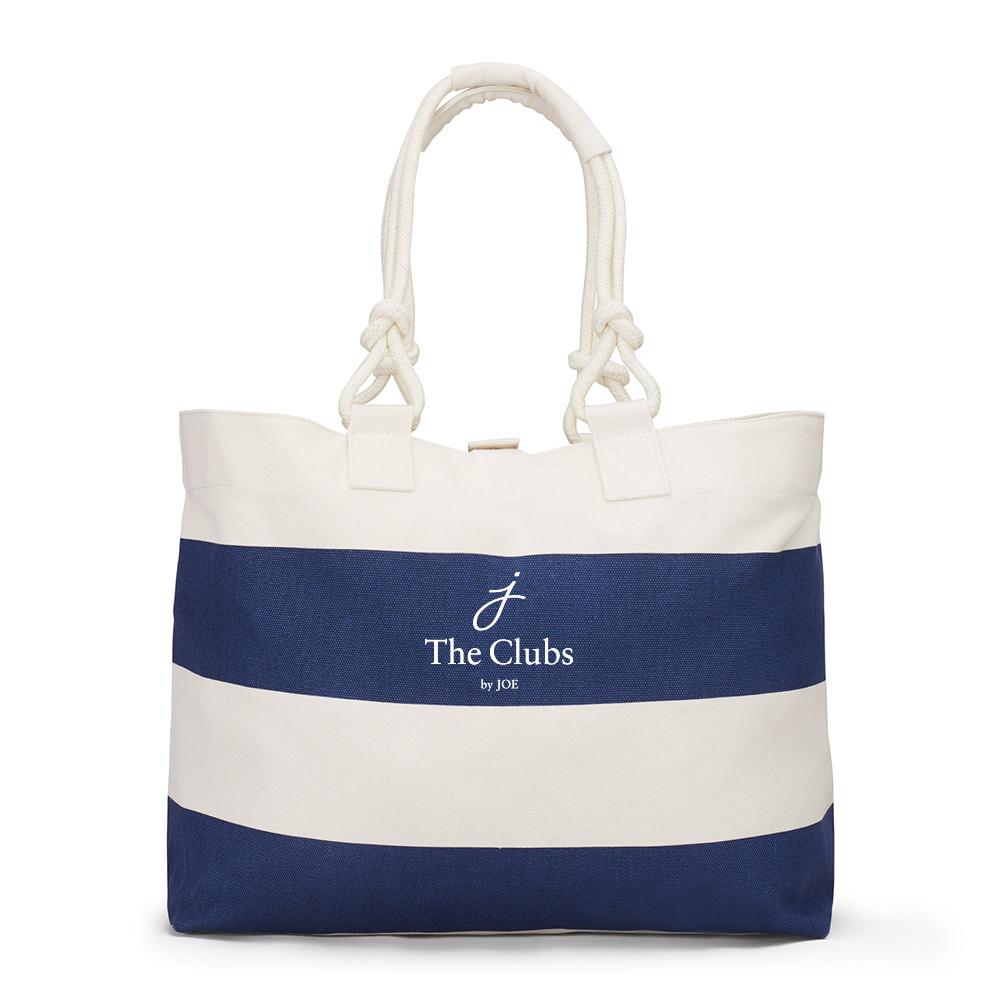 The Clubs by Joe logo on nautical tote bag