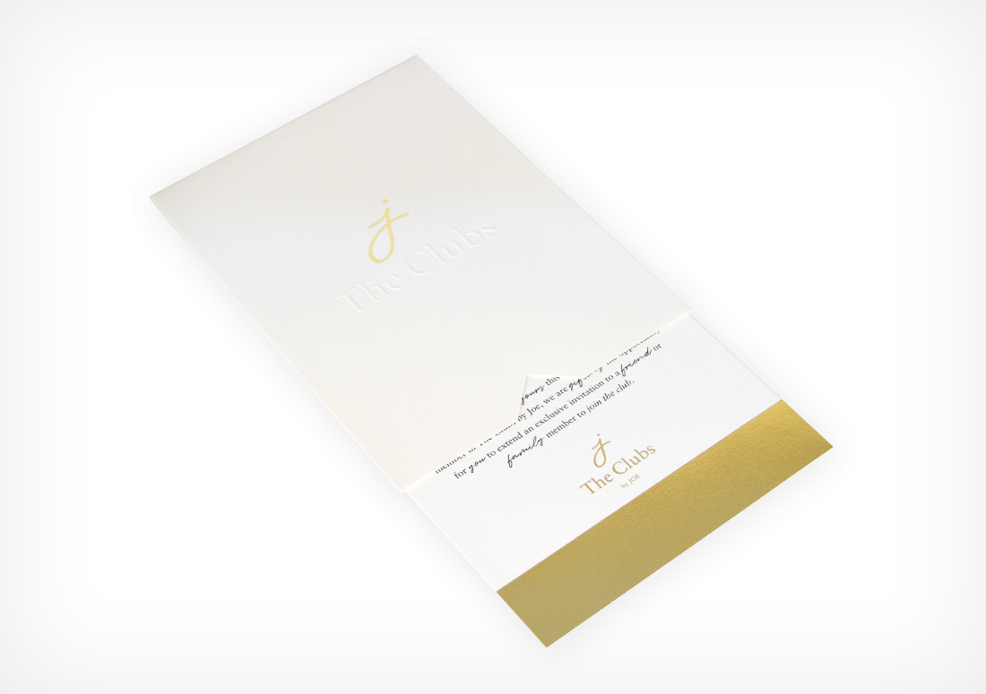 The Clubs by JOE Golden Ticket Mailer Invitation