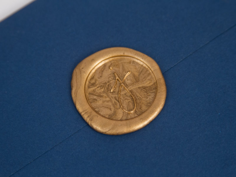 The Clubs by JOE Golden Ticket Mailer Invitation Wax Seal