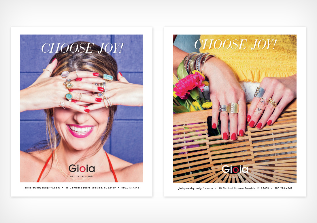 Gioia Fine Jewelry & Gifts advertising campaign