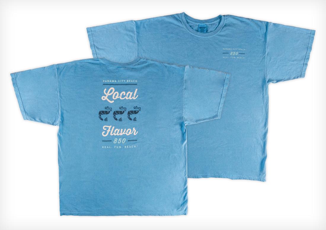 Panama City Beach CVB t-shirts, Local Flavor