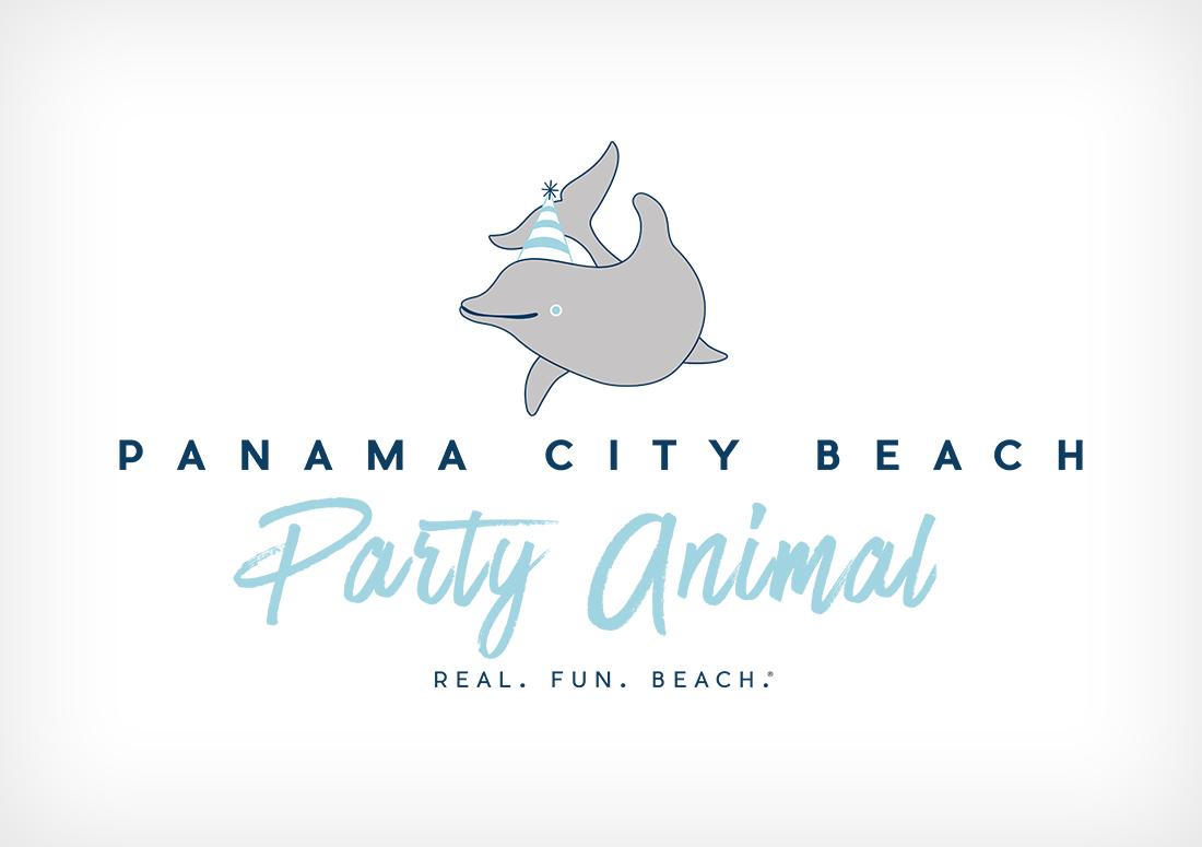 party animal tshirt design Panama City Beach branding 2016