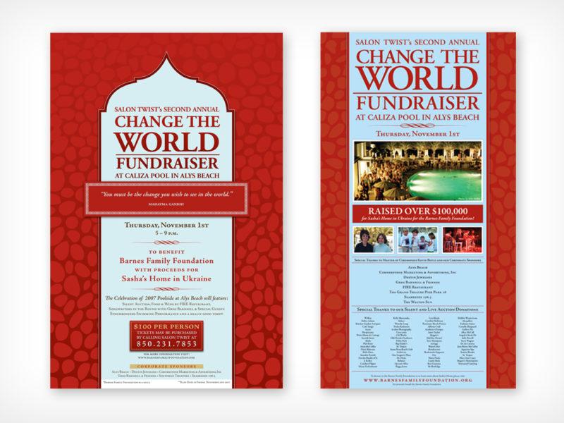 Change the World Fundraiser Poster